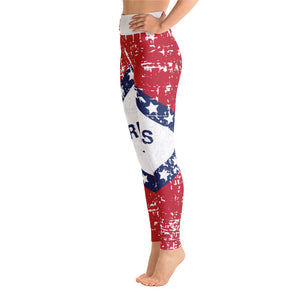 Arkansas Flag Yoga Leggings