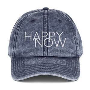 HAPPY NOW - Vintage Cotton Twill Cap