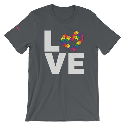 LOVE RAINBOW Short-Sleeve Unisex T-Shirt