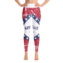 Load image into Gallery viewer, Arkansas Flag Yoga Leggings