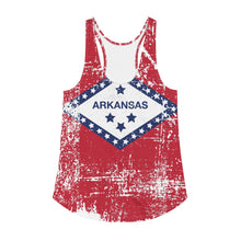 Load image into Gallery viewer, Arkansas Flag Women's Racerback Tank