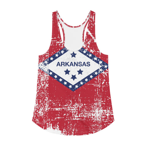 Arkansas Flag Women's Racerback Tank