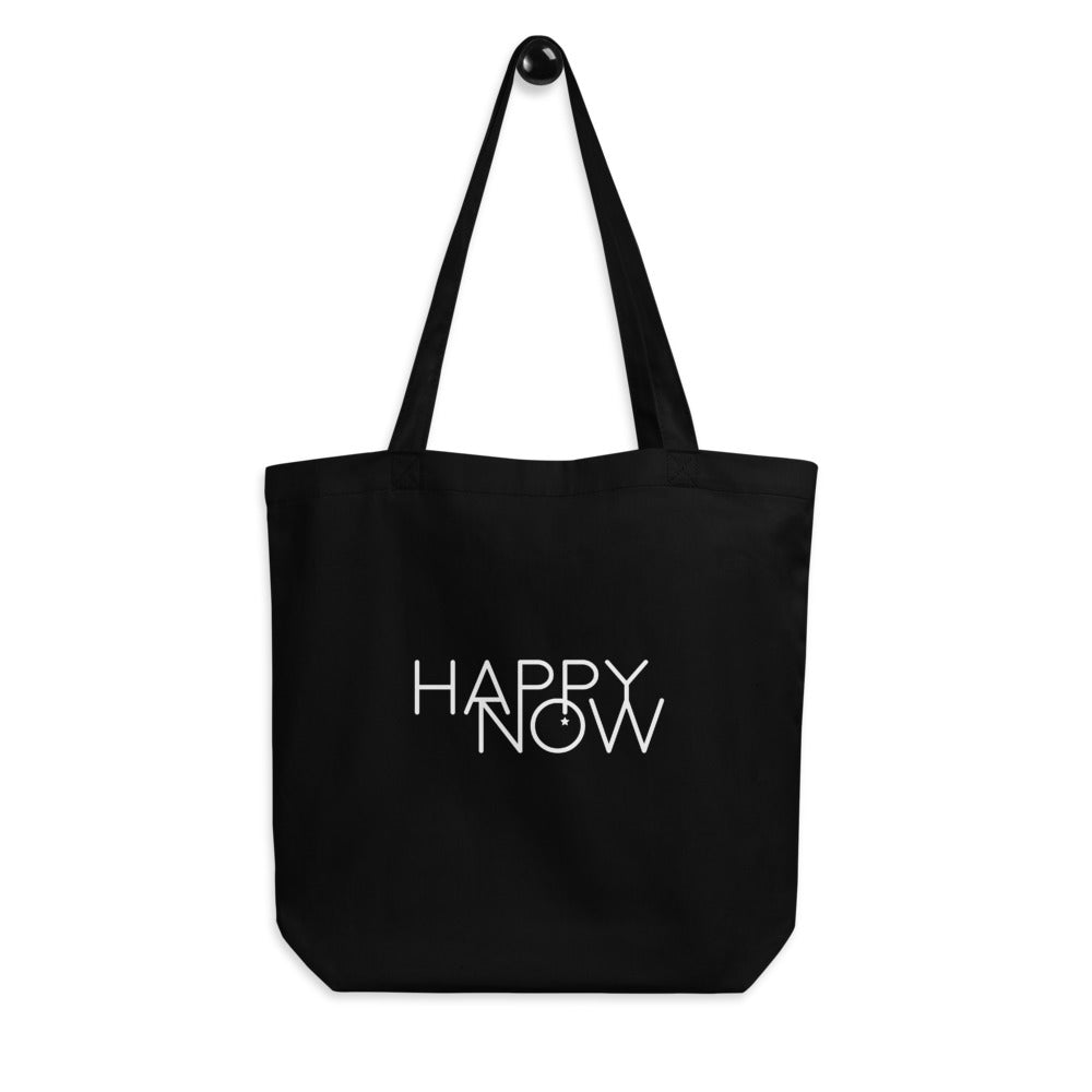 HAPPY NOW - Eco Tote Bag BLACK