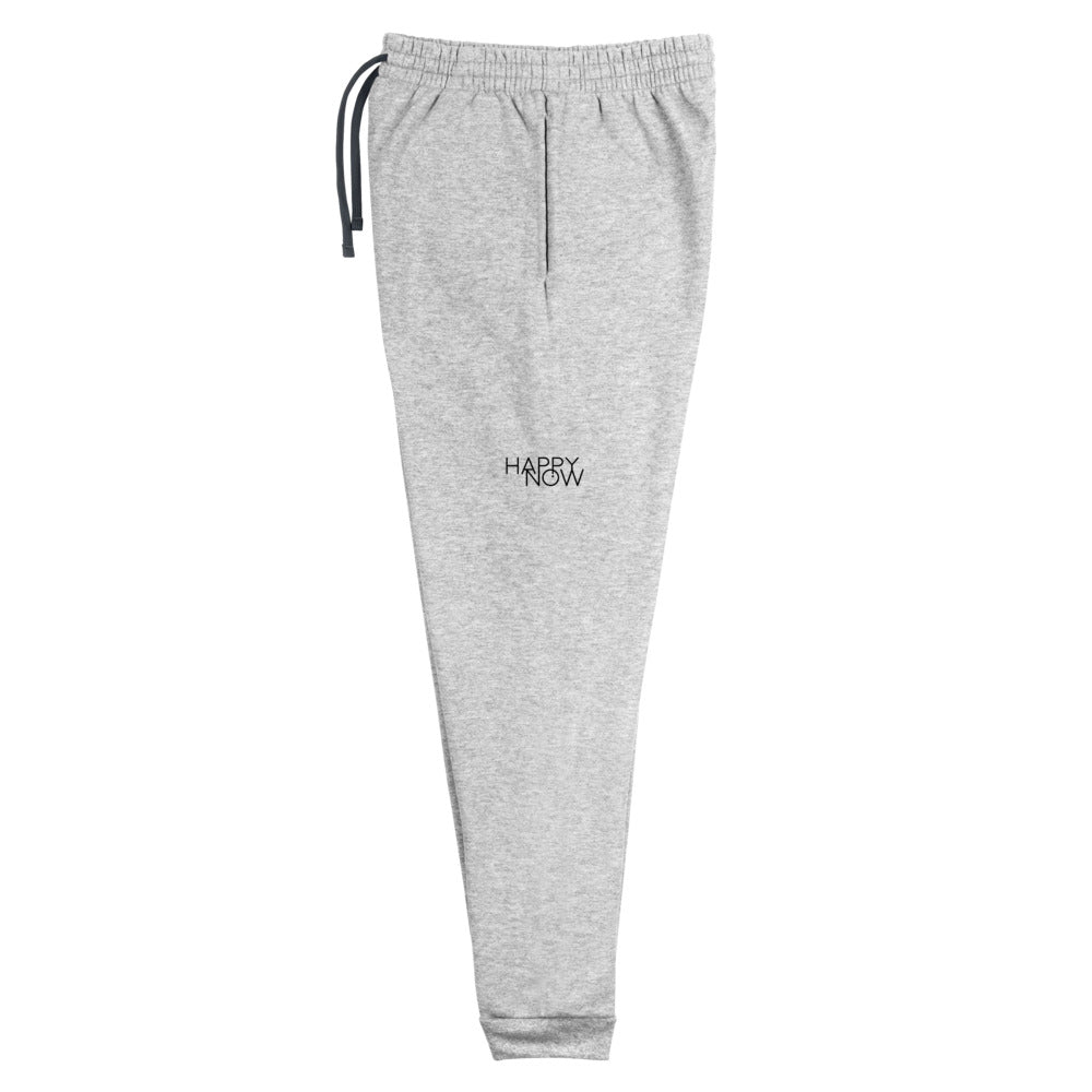 HAPPY NOW - Heather Gray Unisex Joggers