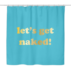 Let's Get Naked Shower Curtain | The Inked Elephant