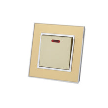 Luxury Gold Mirror Glass Single Switched 20A Switch