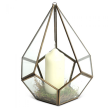 Glass Diamond Candle Holder