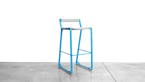 CRANE BAR STOOL - STEEL, LOW BACK