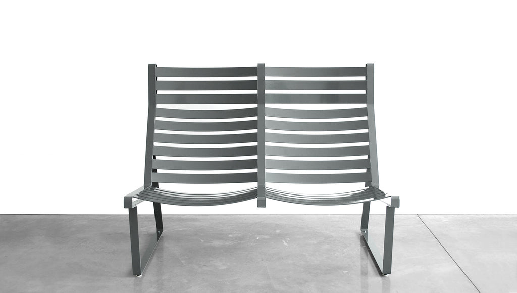 GRASSHOPPER LOUNGE - STEEL, LOVESEAT