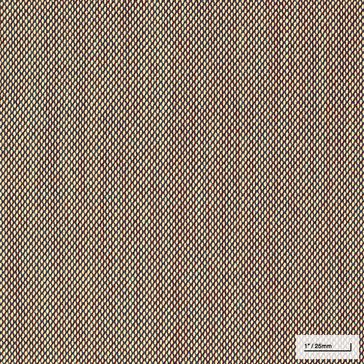 CREAM/BLUE/RED WOOL UPHOLSTERY (#225)