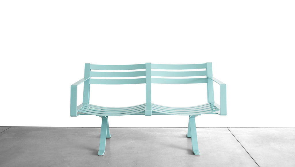 ROADRUNNER BENCH - STEEL, 2 SEAT