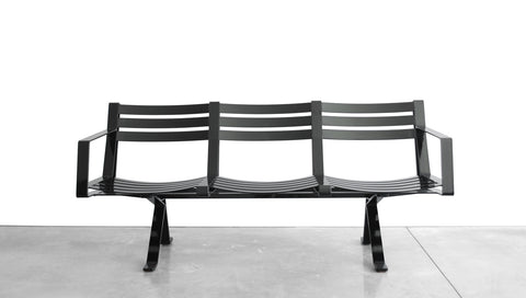 ROADRUNNER BENCH - STEEL, 3 SEAT