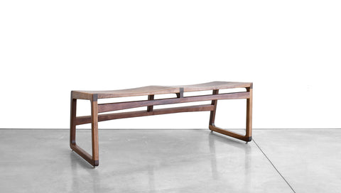 ROADRUNNER BENCH - WOOD, 2 SEAT, BACKLESS