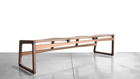ROADRUNNER BENCH - WOOD, 2-3 SEAT, BACKLESS