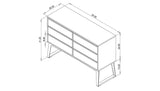 SHEEPADILLO DRESSER WIDE - STEEL LEGS, 4 OR 6 DRAWERS