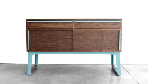 SHEEPADILLO SIDEBOARD - STEEL LEGS, SLIDING DOORS, DRAWERS