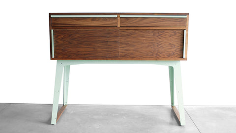 TURTLE SIDEBOARD - STEEL LEGS, SLIDING DOORS, DRAWERS