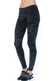Printed Long Legging- Dark Camo