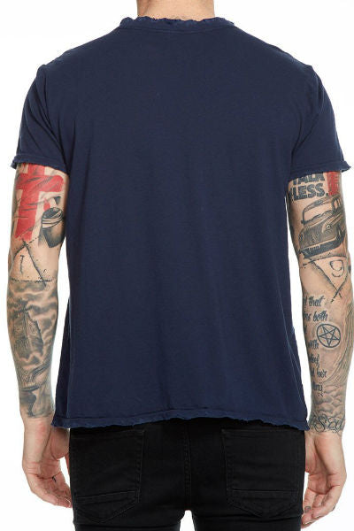 Mens Cotton Crew Neck Tee- Avalon