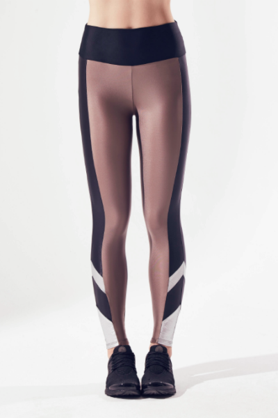 Cyrus Metallic Block Legging
