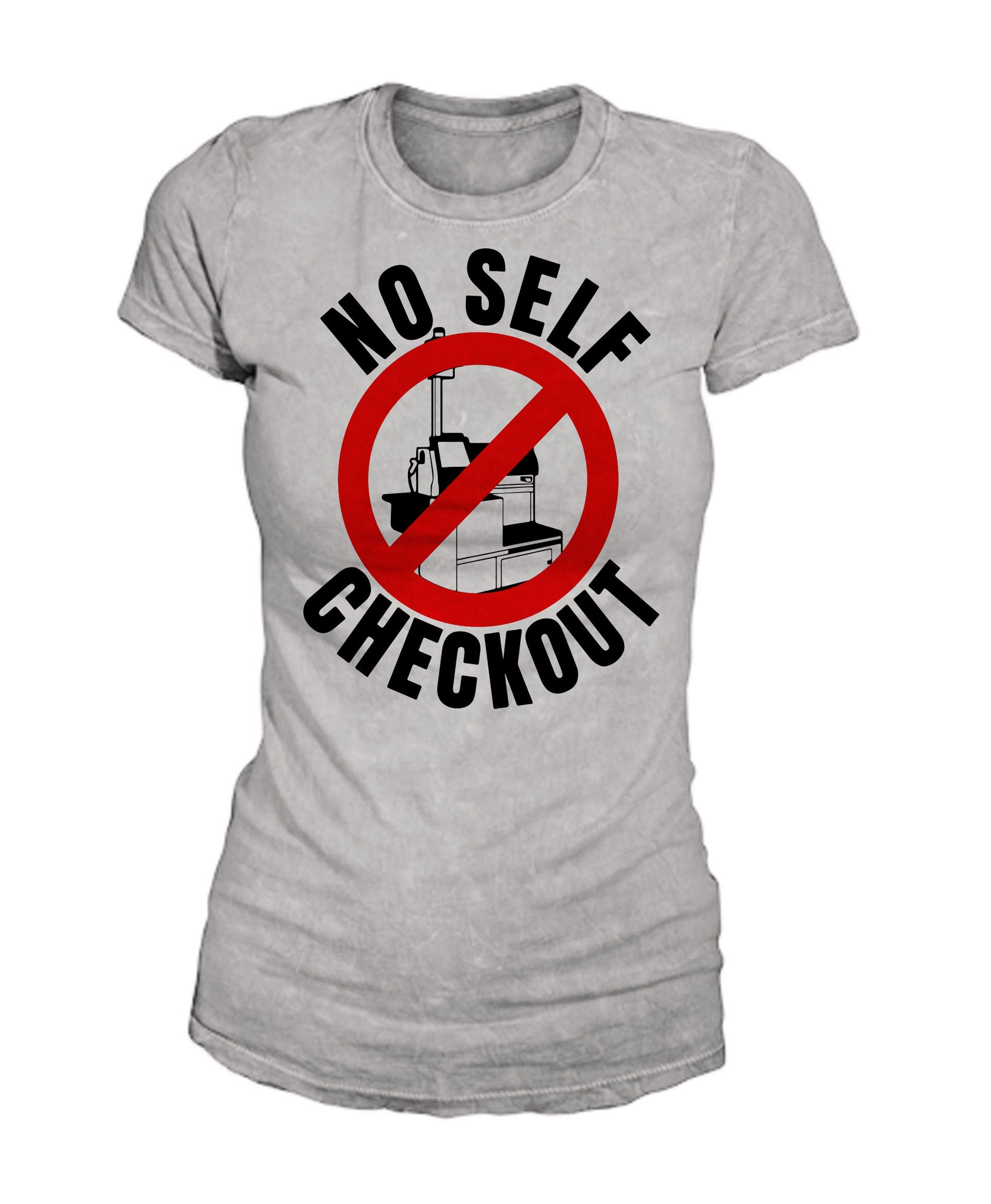 No Self Checkout f (wht)