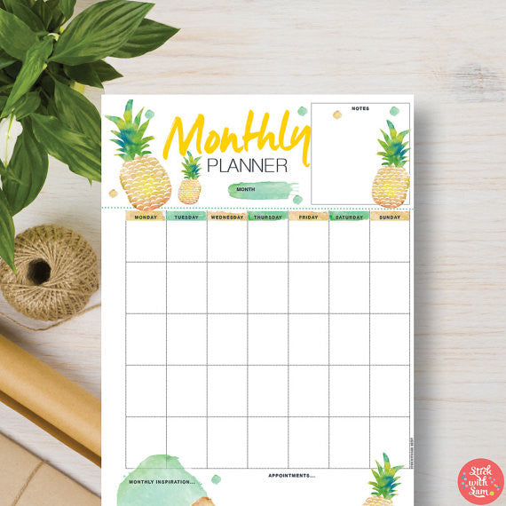 Stick with Sam - Pineapple planner in March TTC Crate 2017