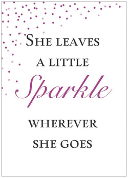 She Leaves a Little Sparkle - 5 x 7 Print