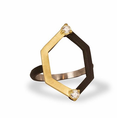 Sarah Graham Hex Harlequin Ring