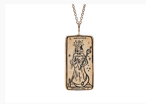 Tarot Card Necklace The Empress