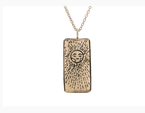 Tarot Card Necklace The Sun