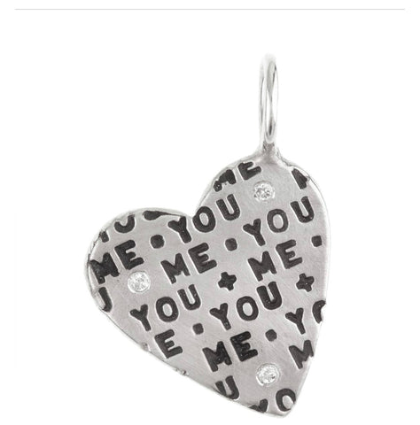 Heather Moore You + Me Heart Charm