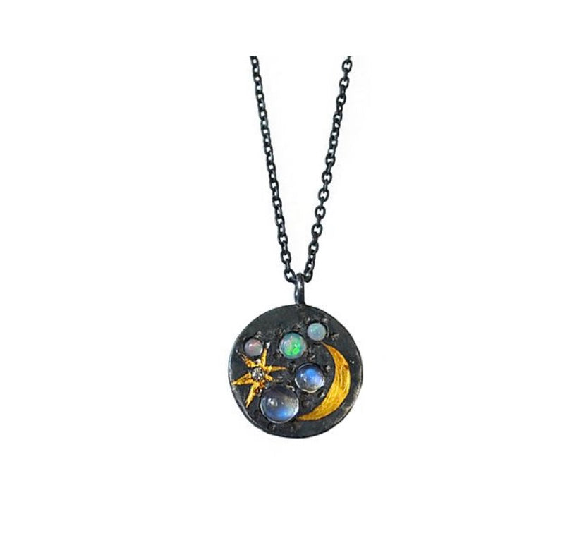 Medium Space Scape Pendant