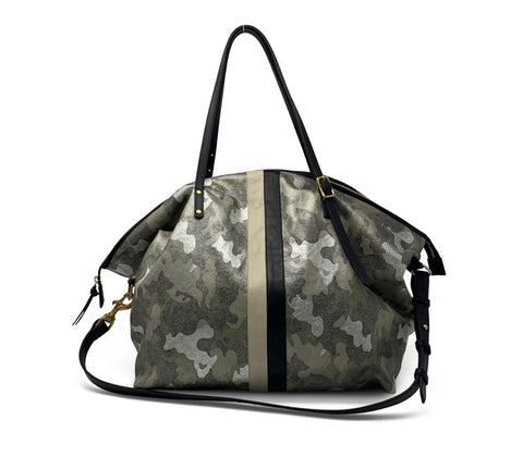 Metallic Camo Canvas Large Crossbody
