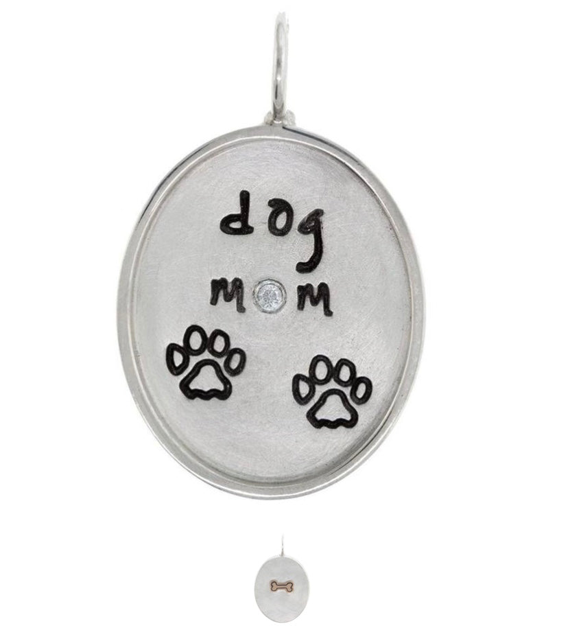 Heather Moore Oval Dog Mom Charm