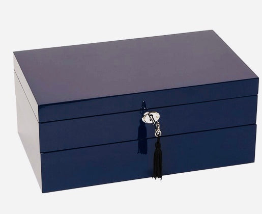 Stackable Jewelry Boxes Navy