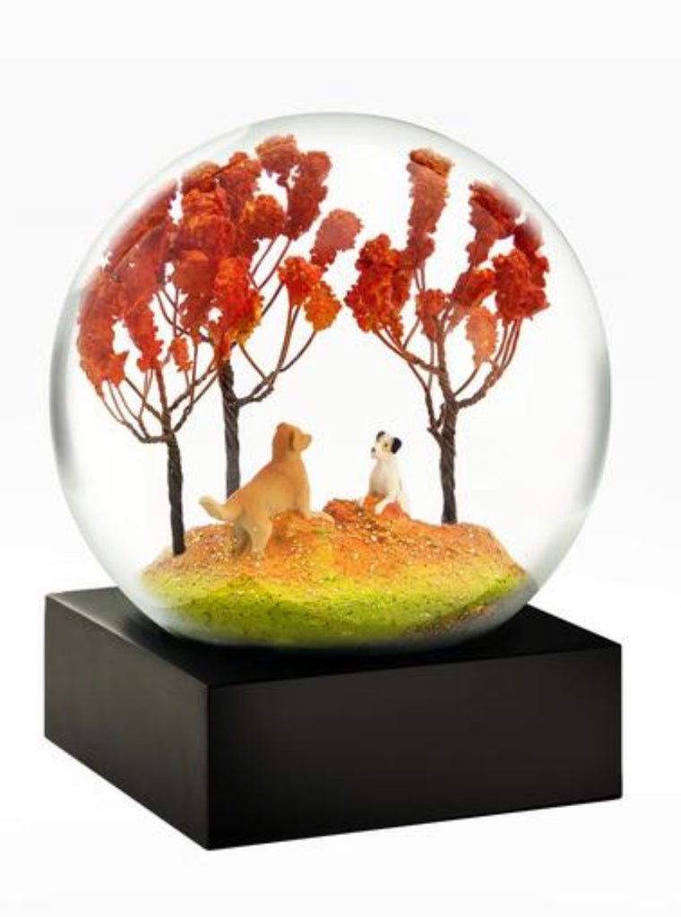 Dogs At Play Snow Globe