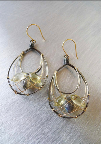 Labradorite Nested Earrings