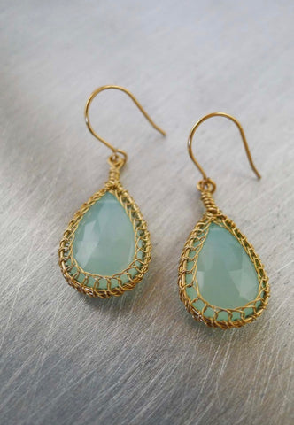 Essence Chalcedony Earrings