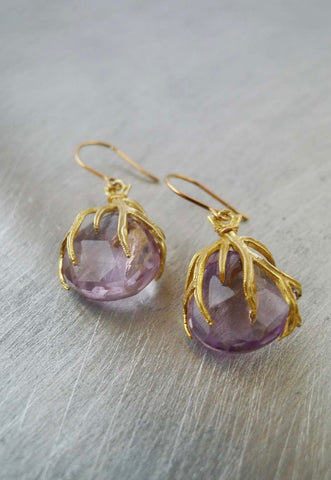 Branch Amethyst Earrings