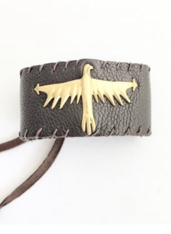 Thunderbird Leather Bracelet