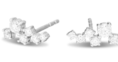 Scattered Diamond Earrings