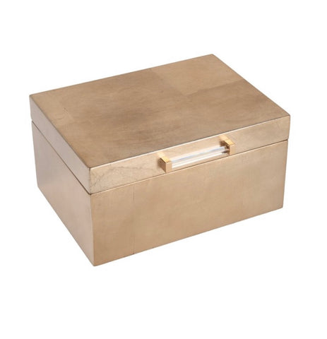 Gold Metallic Jewelry Box