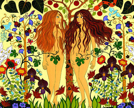 Lilith & Eve in Eden by Karla Gudeon