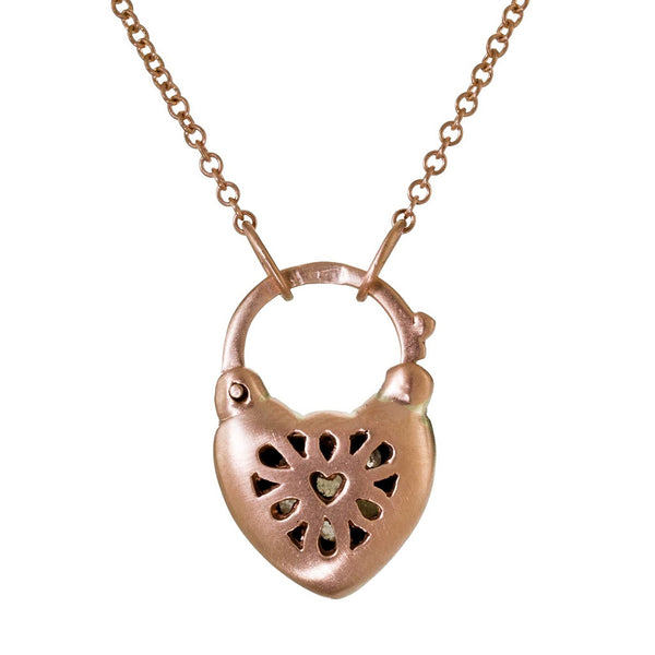 rose gold heart, diamond heart, diamond heart padlock, padlock necklace, padlock heart, Arik Kastan jewelry, sedoni gallery jewelry, huntington jewelry, new classic jewelry,