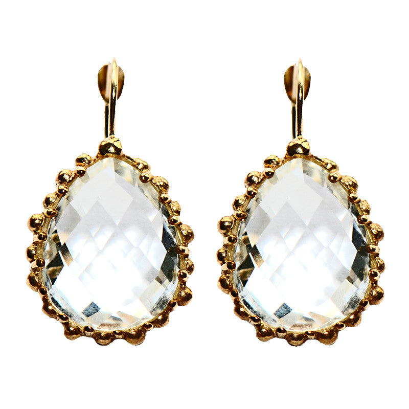 Anzie Dew Drop Earrings - White Topaz
