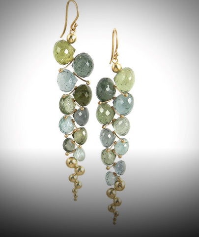 Stunning Moss Aquamarine Earrings