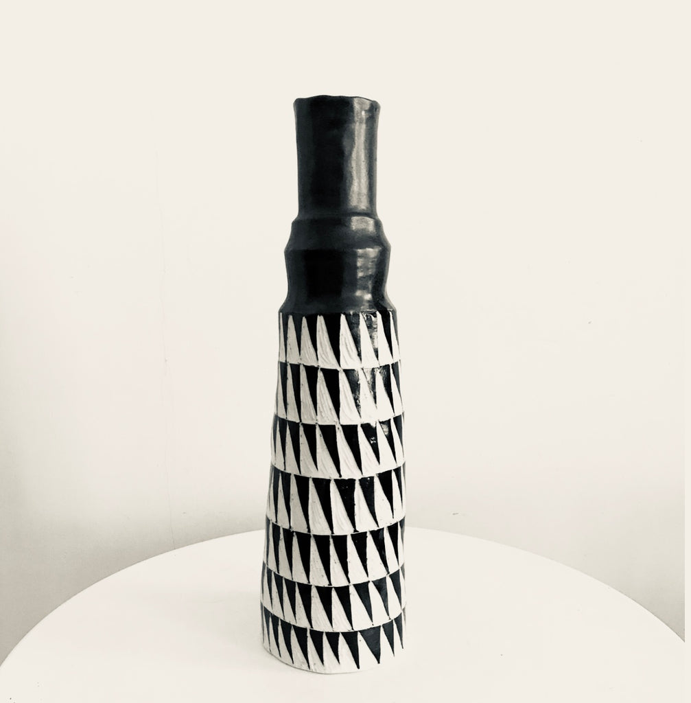 Ceramic Black and White vase