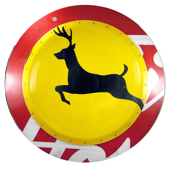 boris bally sale, boris bally art, boris bally deer crossing, deer crossing sign, street signs, street sign art, recycled art, upcycled art, traffic signs, traffic sign art, , sedoni gallery boris bally