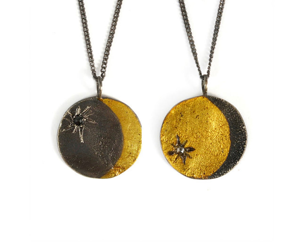 Lunar Double Sided Coin Necklace