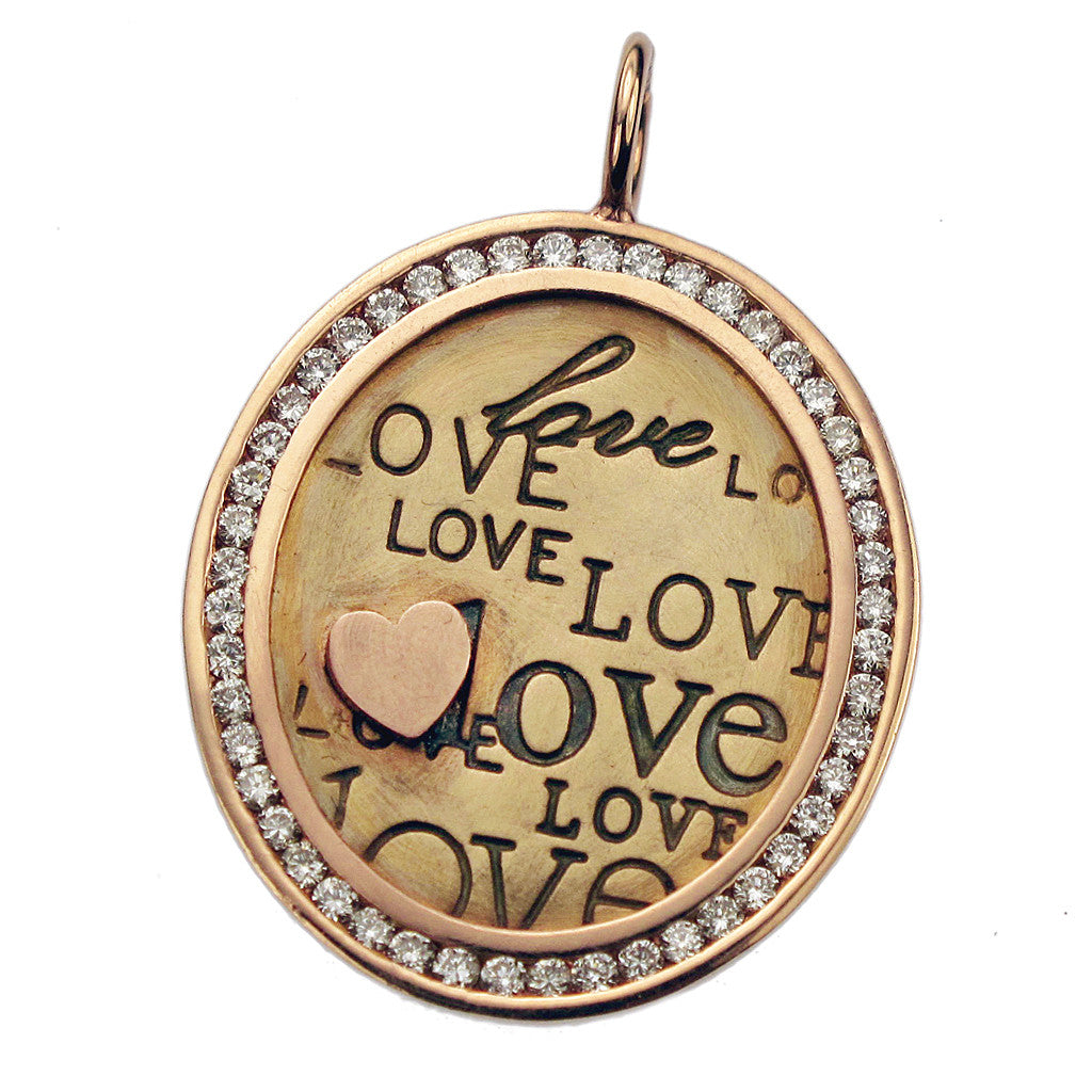 Heather Moore diamond oval, heather moore jewelry, heather moore charm, love charm, sedoni gallery heather moore, sedoni gallery, personalized jewelry, custom jewelry, hand stamped jewelry, heart charm
